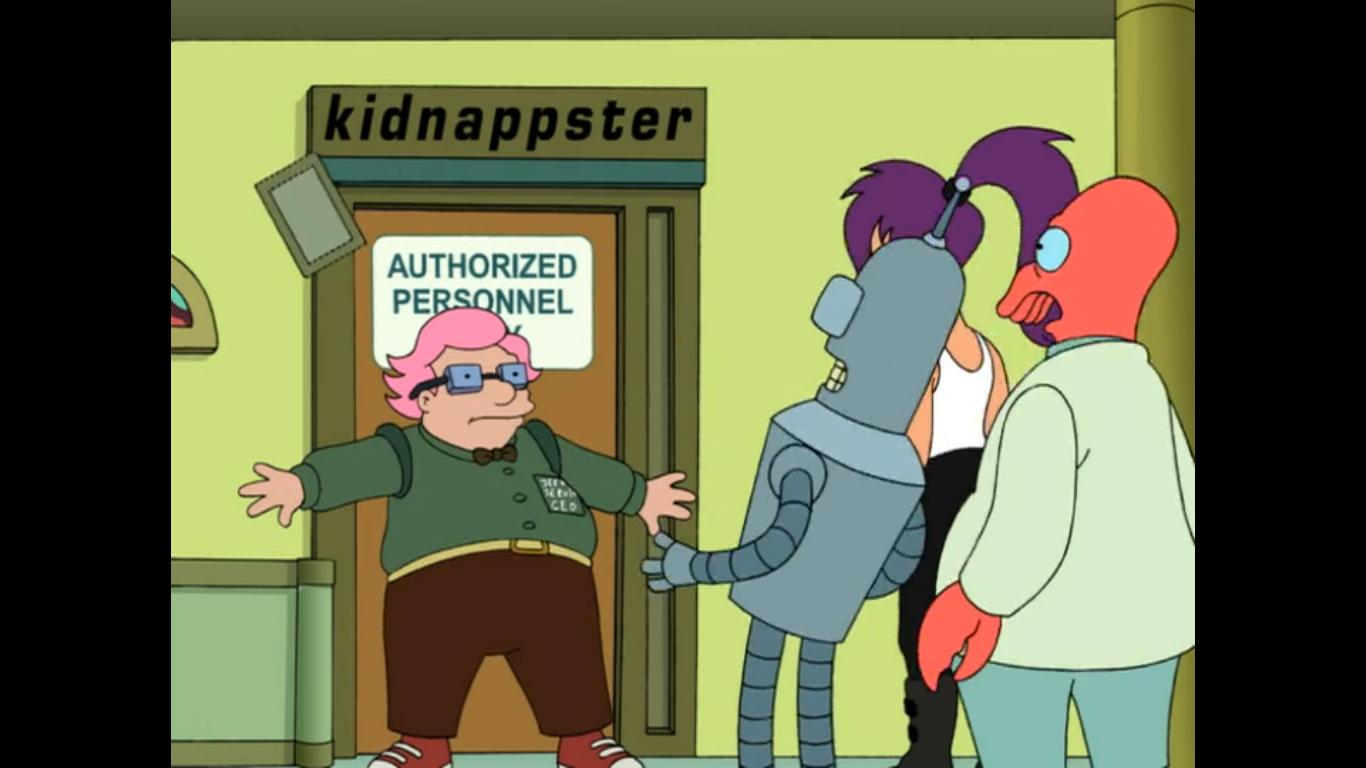 Futurama dating robotar